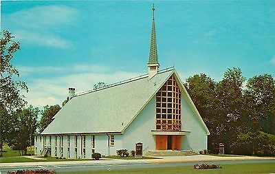 Fort Knox Kentucky~Army Post~New Modern Chapel~1958 Postcard