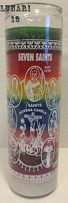 Seven Saints, 7 Saints, Seven Colors, 7 Day Candle, Lunari13, Wicca, Santeria