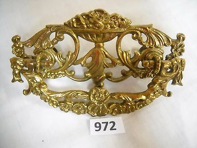 Antique Victorian Cast Brass Drawer Pull