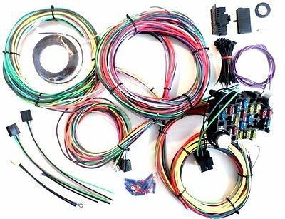 21 circuit ez wiring harness mini fuse chevy ford hotrods 21 circuit wiring harness chevy mopar ford hotrods universal extra long wires