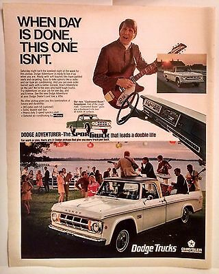1969 Dodge Adventurer Vintage Car Ad