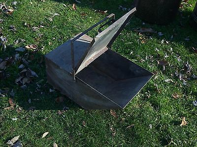 Vintage Metal ash / coal bin - wood burner fireplace fire scuttle box bin ashes