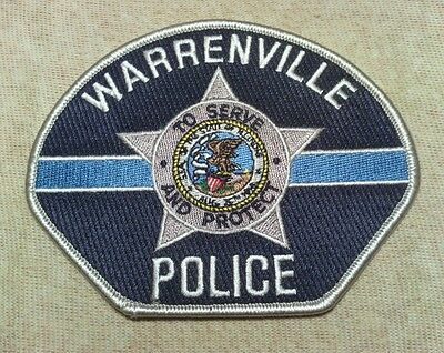 IL Warrenville Illinois Police Patch