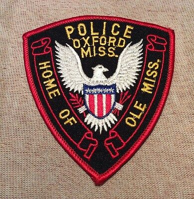 MS Oxford Mississippi Police Patch