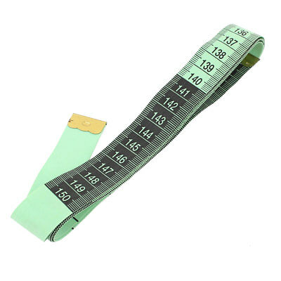 "Body Measuring Sewing Cloth Tailor Tape Soft Flat Ruler Green 60"" 150cm"