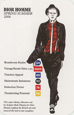 Single Swap Trade Card: Dior Homme. New. Fashion.