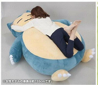 "Giant Huge 59"" Pokemon Go Snorlax Stuffed Plush Toys Doll Pillow Bed Xmas Gift A"