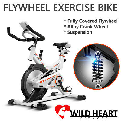 New Heavy Duty Spin Flywheel Exercise Bike Home Fitness Gym Led Monitor