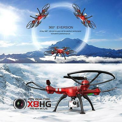 Syma X8HG 2,4GHz 6-Axes Gyro RC Quadcopter Drone avec 8MP Camera Rouge