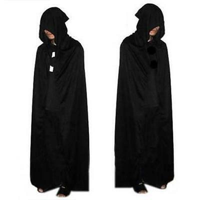 Black PropDeath Hoody Cloak Devil Long Tippet Cape Costume Theater Halloween