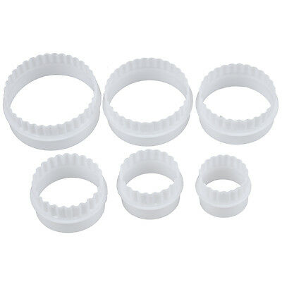 5X(6 Pcs mould punch Pastry Biscuit Cake Fondant sugar paste Round Cutter T8