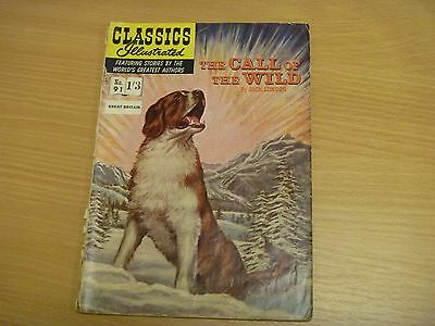 CLASSICS  ILLUSTRATED - No 91 - CALL OF THE WILD by JACK LONDON