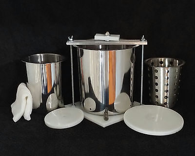 """Stainless Steel 6"""" & 4"""" Spring Assisted Double Cheese w/ Free Soft Cheese Mold"""