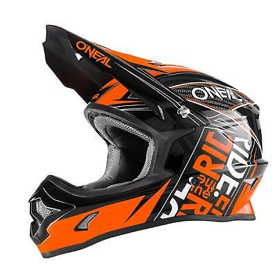 5082b6e6338e3 ONeal MX 3Series Fuel KINDER Helm Schwarz Orange Youth Moto Cross Enduro  Kids AM
