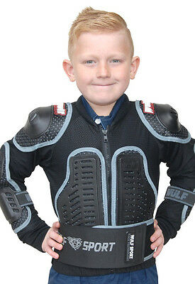Wulfsport Cub Youth MX Motocross Enduro Full Deflector Chest Protection Jacket