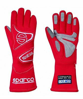 Sparco Flash L3 FIA Approved Race, Rally Gloves Size 10 (M) Red