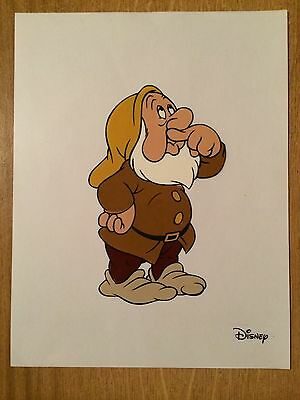 #163 Walt Disney Snow White And The Seven Dwarfs Sneezy Hand Painted Cel