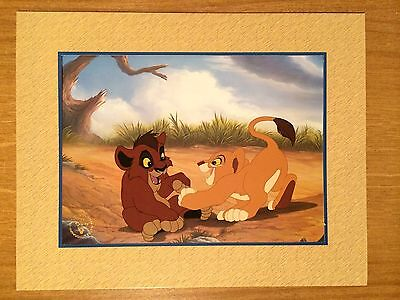 #234 Walt Disney The Lion King 2 Exclusive Commemorative Lithograph With Mount.
