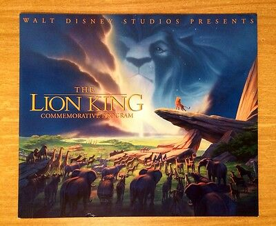 #157 Walt Disney The Lion King  Commemorative Program With Double Sericel
