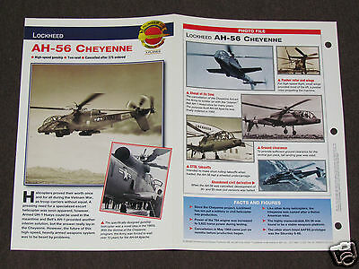 LOCKHEED AH-56 CHEYENNE Helicopter Photo Spec Sheet Booklet Brochure