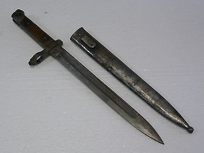 Austria-Hungary WWI M95 Mannlicher Knife Bayonet F.G.GY with Scabbard Marks Rare