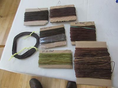lot of vintage silk waxed trout salmon fly fishing lines
