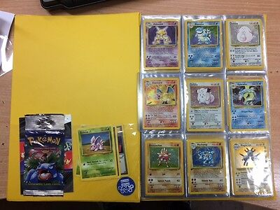 Complete Pokemon Base Set 102/102 Cards *good Condition* With Folder