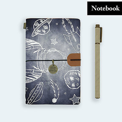 Hand Made Genuine Leather Journal Travel Diary Travelers Notebook Size Astronaut