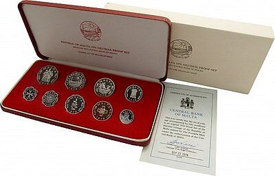 Malta KMS 1976 Proof Set 10,93 Mils-PP OVP