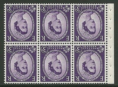 SB92a Wilding booklet pane M/C on Cream perf I UNMOUNTED MNT/MNH