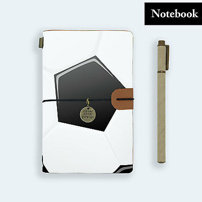 Hand Made Genuine Leather Journal Travel Diary Travelers Notebook Size Soccer