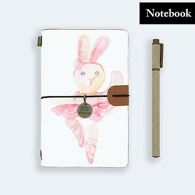 Hand Made Genuine Leather Journal Travel Diary Travelers Notebook Size Ballerina