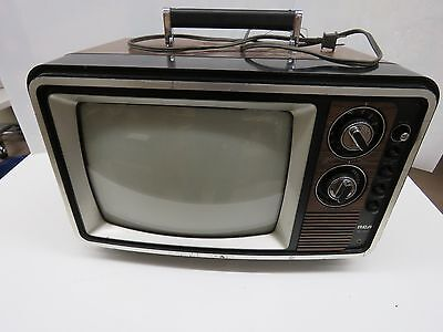 "Vintage Gamer TV 13"" Inch Retro RCA XL100 Faux Wood Grain Cable/coax   #125"