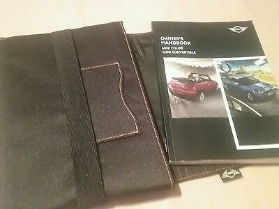 Mini Coupe - Convertible 2009-2015 Handbook Owners Manual Wallet