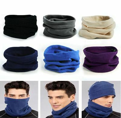3in1 Winter Sport Thermal Fleece Scarf Snood Neck Warmer Face Mask Beanie Hat