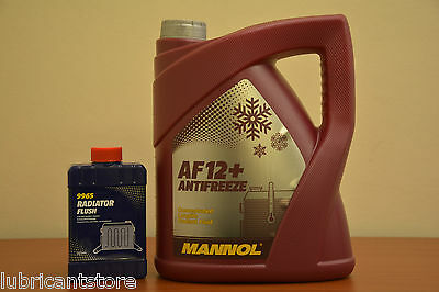LONGLIFE Red AntiFreeze 5L  Coolant Concentrate 5 Litre GL12+ + RADIATOR FLUSH