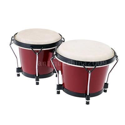 "Kids 6 & 7 "" Tunable Bongos Bongo Kids Educational Musical Percussion Toy E9L2"