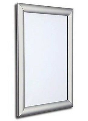 Seco SECO Front Load Easy Open Snap Poster Frame 18 x 24 Inches, Silver Anodised