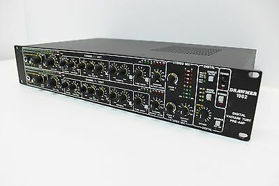 Drawmer 1962 Dual Channel Vacuum Tube Preamp, W/ Ad Card, Classic Top Tier!