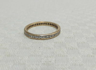 Antique 18ct Yellow Gold Full Eternity Ring 0.50ct Round Cut Diamonds