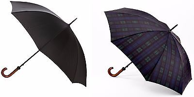 Fulton Huntsman Mens Classic Stick Umbrella with Wood Handle