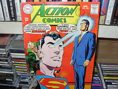 Action Comics  No. 362  - DC April  1968 - SILVER AGE - Very Good
