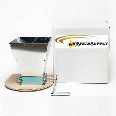 Homebrew Grain Mill With Stainless Rollers - 2 Roller Barley Mill With Hopper