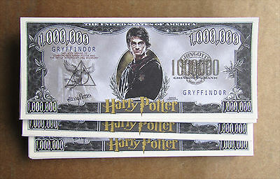 Lot Of 25 Harry Potter Money Million Dollar Bills Novelty Money Wholesale Lot