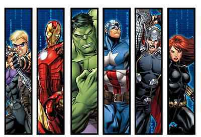 Avengers Childrens Bookmarks Laminated X 6