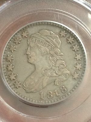 1818 Capped Bust Quarter PCGS XF45 Lovely Original Coin