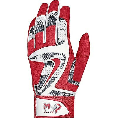 Nike Men's MVP Elite Batting Gloves Red/White