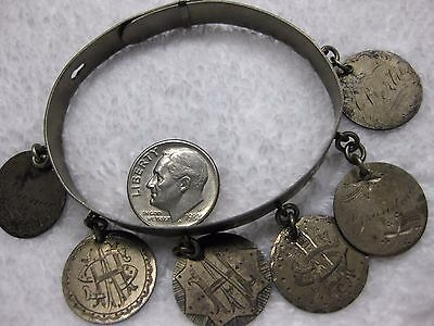 LOVE TOKENS Incredible ENGRAVED Seated Dime Family Bracelet with Star of David