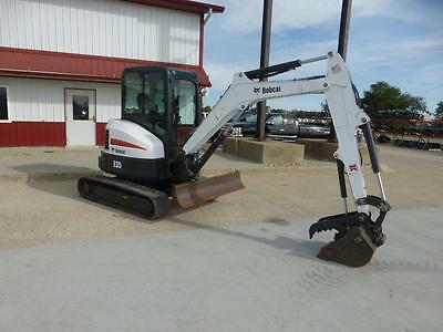 2012 Bobcat E35 Mini Excavator For Sale Full Cab 2 Speed Hydr Thumb 2213 Hours