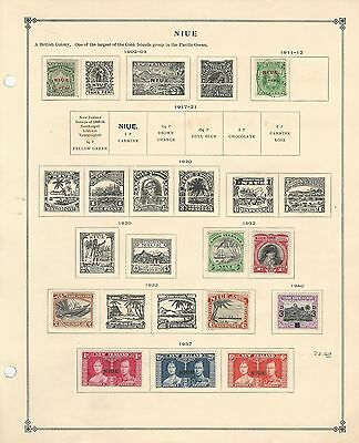 Niue Collection 1902 to 1937 on Scott International Page, British Colony